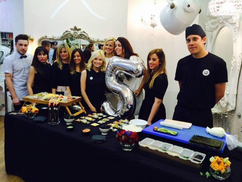 sushiup-zaragoza-eva-pellejero-catering-aniversario-equipo