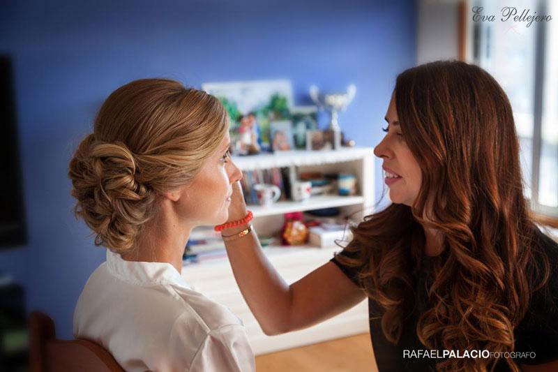 Eva Pellejero, novias, salon de belleza, peluqueria, expertas en novias, maquillaje, wedding, boda, recogido