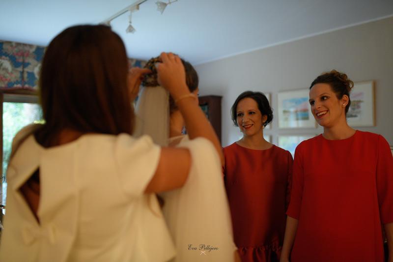 trenza con tocado, novia, boda, maquillaje, peluqueria, beauty salon Eva Pellejero, Zaragoza