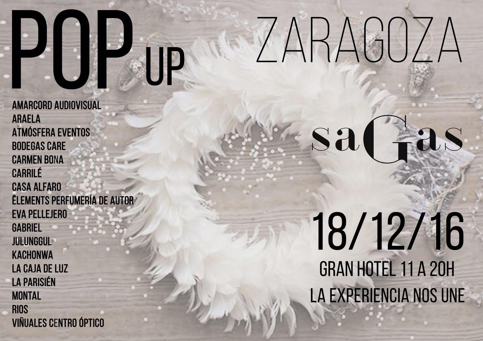 popup sagas 2016, mercadillo navideño sollidario en Zaragoza, Araela, Eva Pellejero
