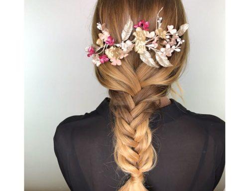 Peinados con tocado en la melena de Patricia