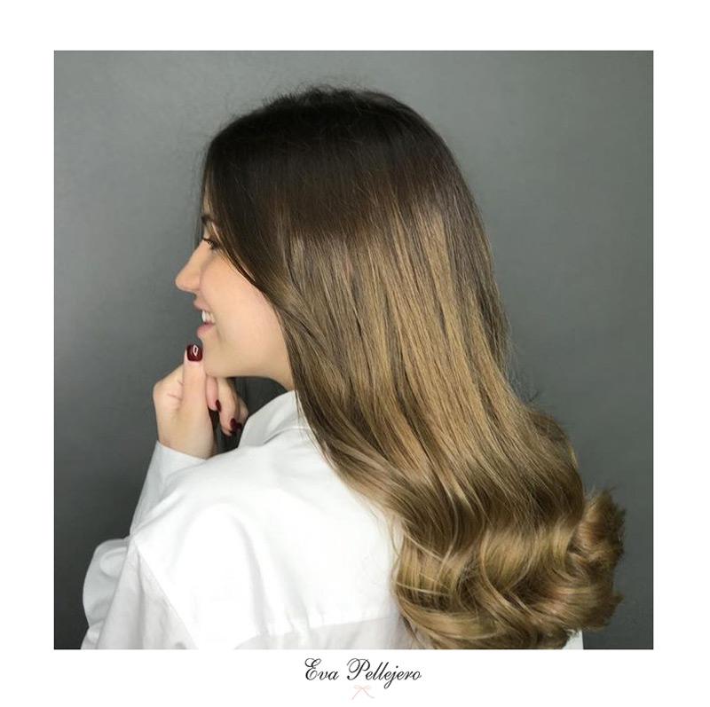 color de pelo de teresa sanz, cambio de look en Eva Pellejero