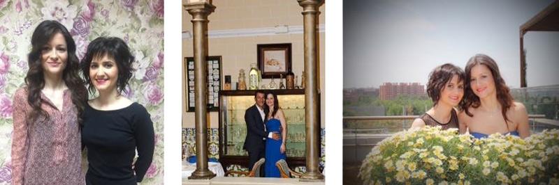 maquillaje y peluqueria para una boda civil, Eva Pellejero, novia de azul