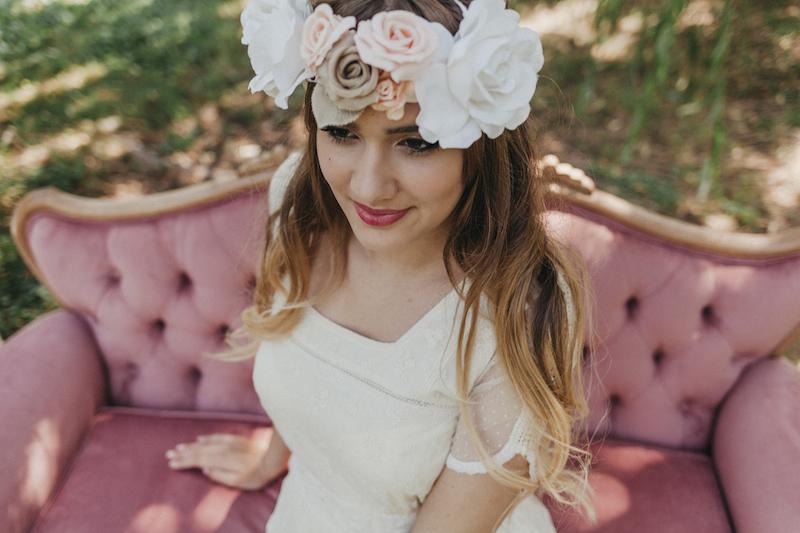 novia bohemia novia romantica eva pellejero