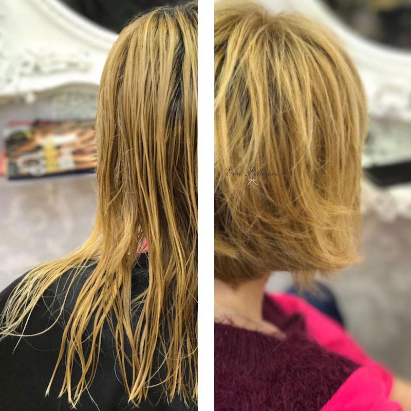 cambio de look pelo corto peluqueria zaragoza eva pellejero