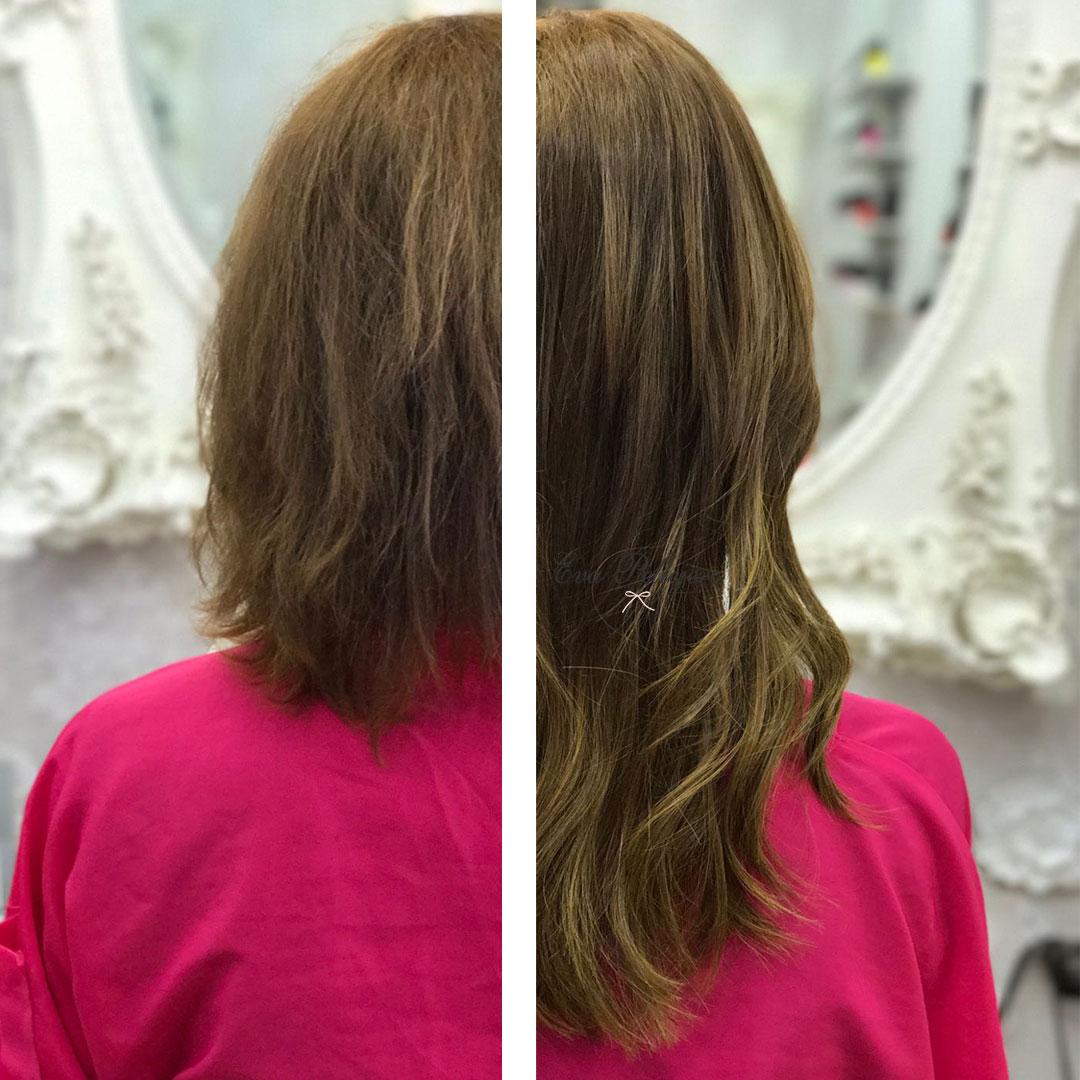 Extensiones para un cabello corto