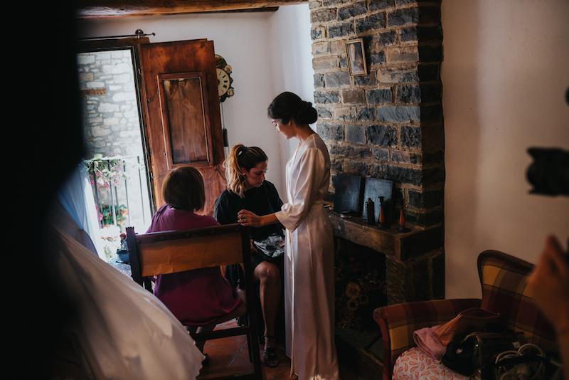 isabel berges boda en ainsa eva pellejero peluqueria zaragoza