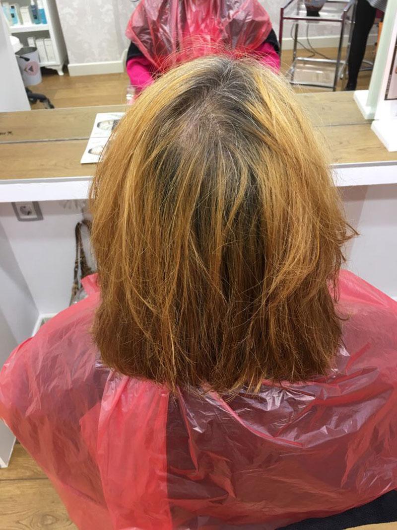 cambio de look eva pellejero cabello pelirrojo