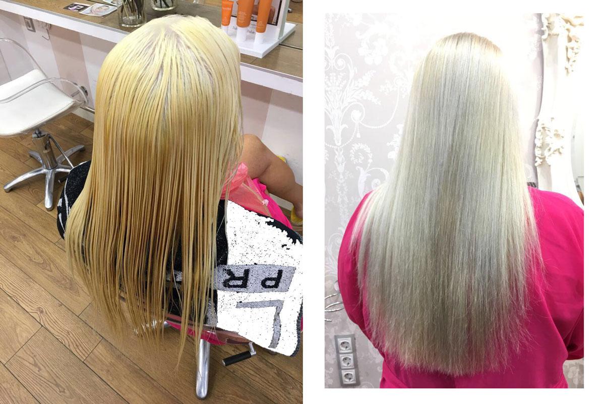 Cabello plata cambio de look en eva pellejero peluquer a zaragoza - Como matizar el pelo rubio en casa ...