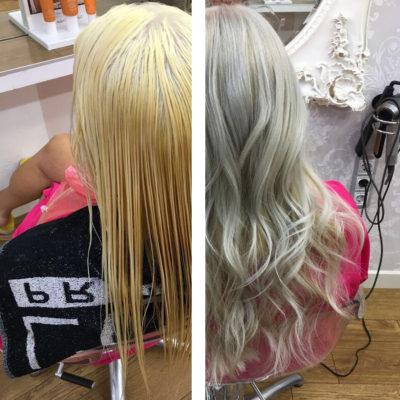 cabello plata rubio nordico blanco eva pellejero