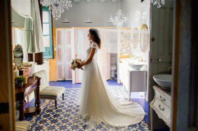 novia con pelo rizado eva pellejero