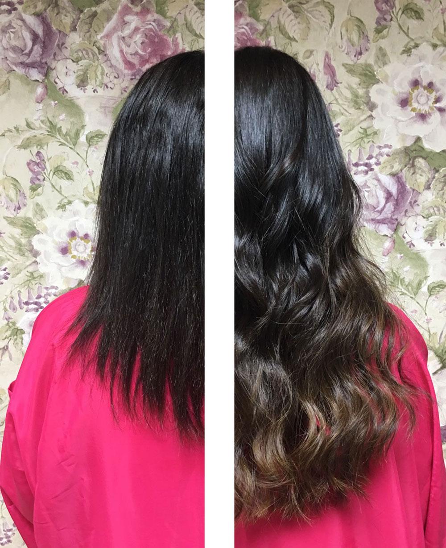 de pelo corto a largo con extensiones great lenghts eva pellejero peluqueria zaragoza
