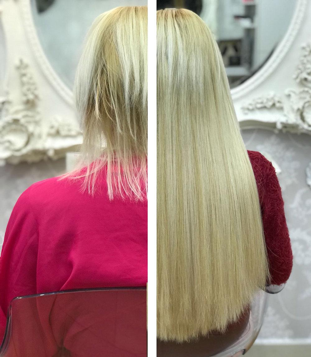 conseguir pelo largo de pelo corto a largo con extensiones great lenghts eva pellejero peluqueria zaragoza