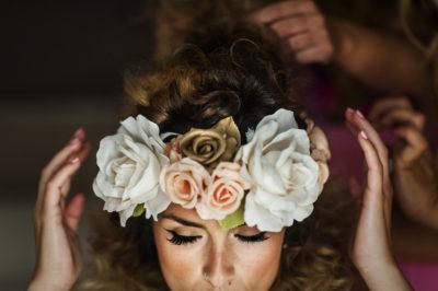 novia de pelo rizado eva pellejero peluquería zaragoza