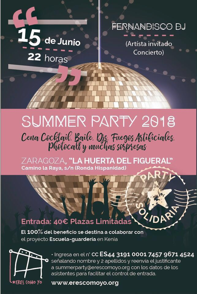 erescomoyo summer party 2018 fiesta benefica eva pellejero