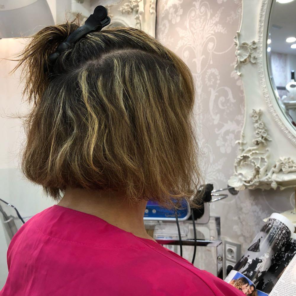 extensiones para pelo corto bob asimetrico
