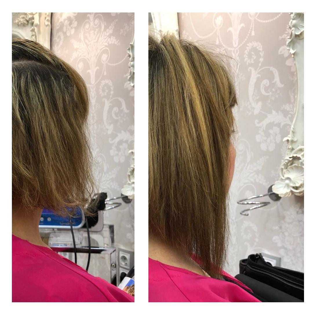 extensiones para cabello corto bob asimetrico zaragoza