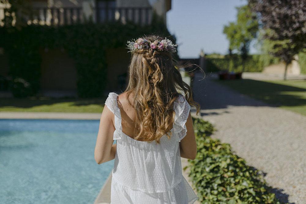 peinado de novia con el pelo suelto eva pellejero