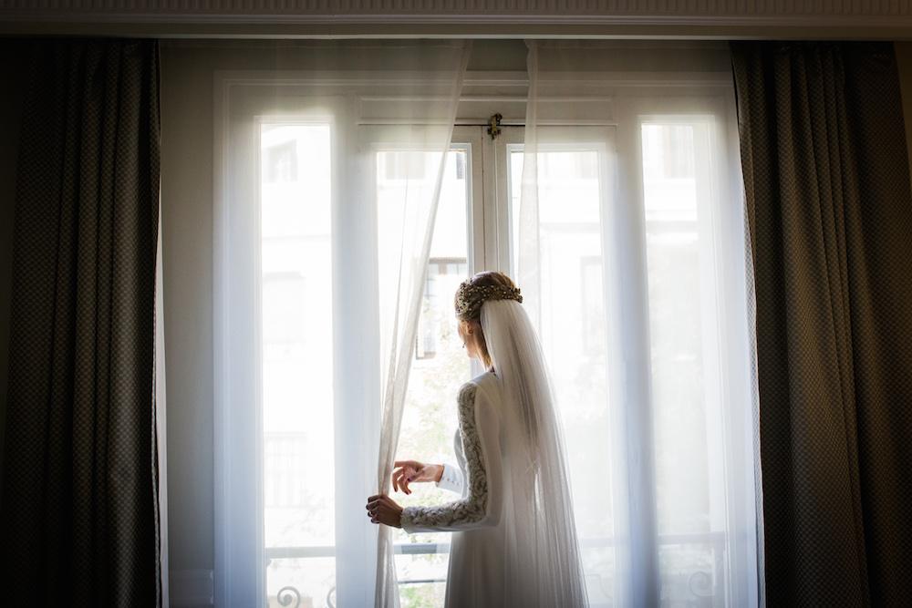 coleta desmontable de novia eva pellejero