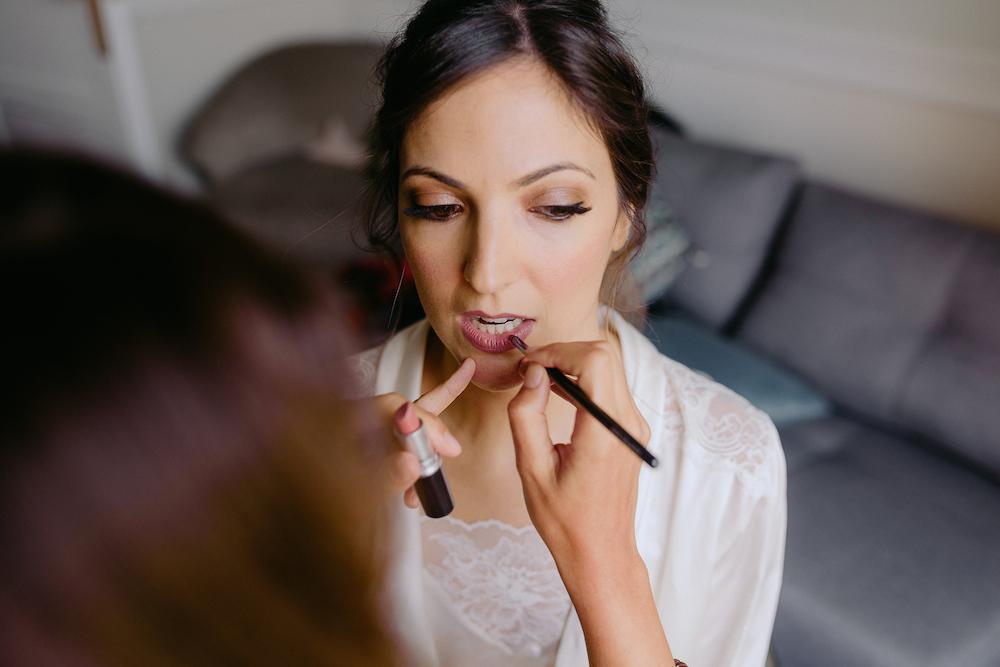 coleta de novia con trenza maquillaje novia zaragoza