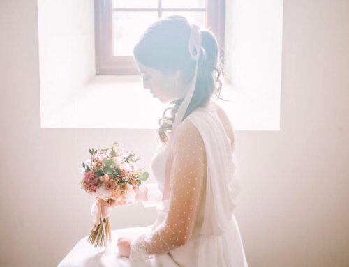 Sara 🎀 Un look de novia romántico ❣ para su boda en plena pandemia