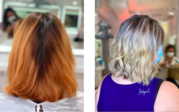 eliminar tonos naranjas del cabello teñido zaragoza eva pellejero